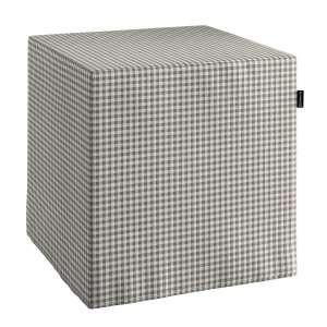 Pufa kostka twarda 40x40x40 cm w kolekcji Quadro, tkanina: 136-10