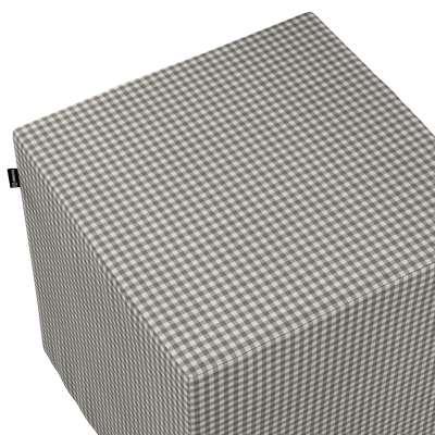 Pufa kostka w kolekcji Quadro, tkanina: 136-10