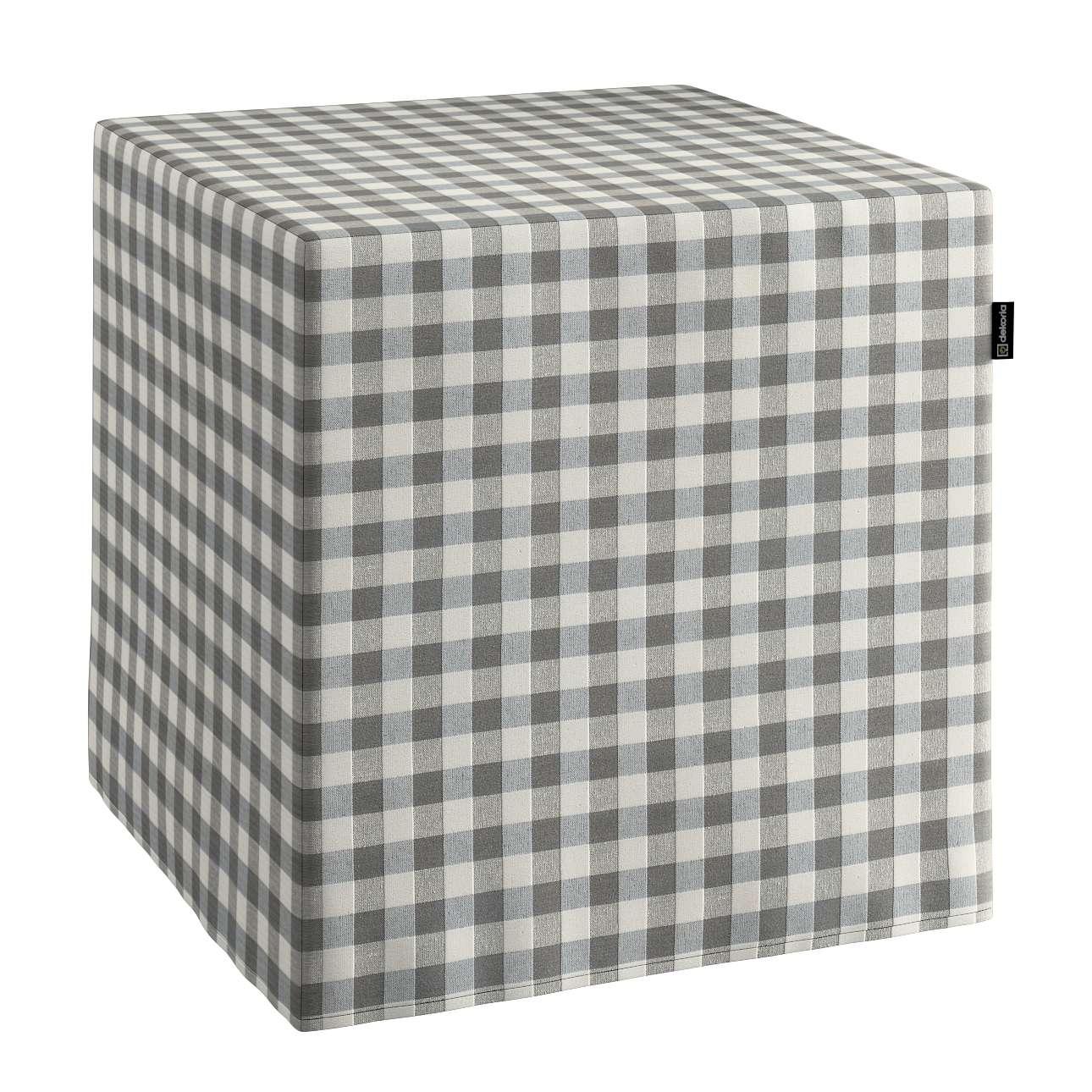 Harter Sitzwürfel, grau-ecru , 40 x 40 x 40 cm, Quadro | Wohnzimmer > Hocker & Poufs > Sitzwürfel | Dekoria