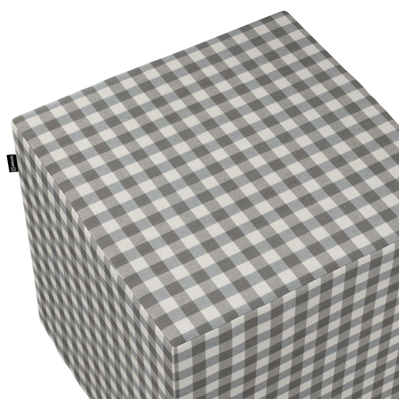Taburetka tvrdá, kocka V kolekcii Quadro, tkanina: 136-11