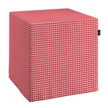 Pufa kostka twarda 40x40x40 cm w kolekcji Quadro, tkanina: 136-15