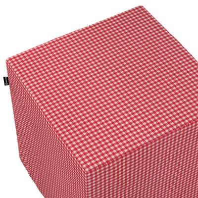 Taburetka tvrdá, kocka V kolekcii Quadro, tkanina: 136-15