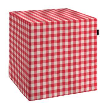 Taburetka tvrdá, kocka V kolekcii Quadro, tkanina: 136-16
