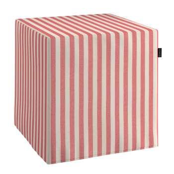 Harter Sitzwürfel 40 x 40 x 40 cm von der Kollektion Quadro, Stoff: 136-17