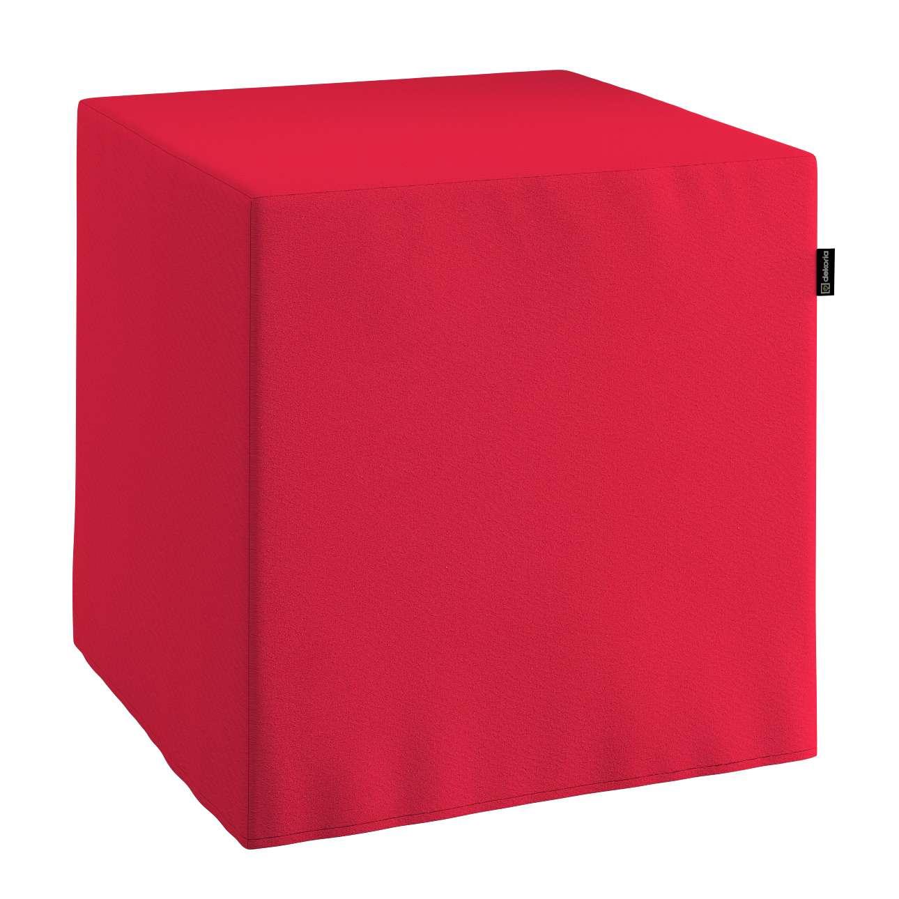 Harter Sitzwürfel 40 x 40 x 40 cm von der Kollektion Quadro, Stoff: 136-19