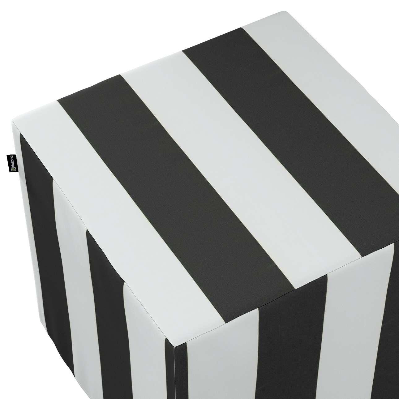 Taburetka tvrdá, kocka V kolekcii Comics, tkanina: 137-53
