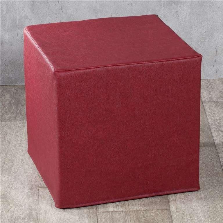 Pufa kostka twarda 40x40x40 cm w kolekcji Eco-leather, tkanina: 104-49
