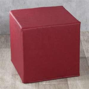 Harter Sitzwürfel 40 x 40 x 40 cm von der Kollektion Öko-Leder, Stoff: 104-49
