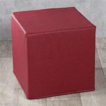 Taburetka tvrdá, kocka 40 × 40 × 40 cm V kolekcii Eko - Leather, tkanina: 104-49