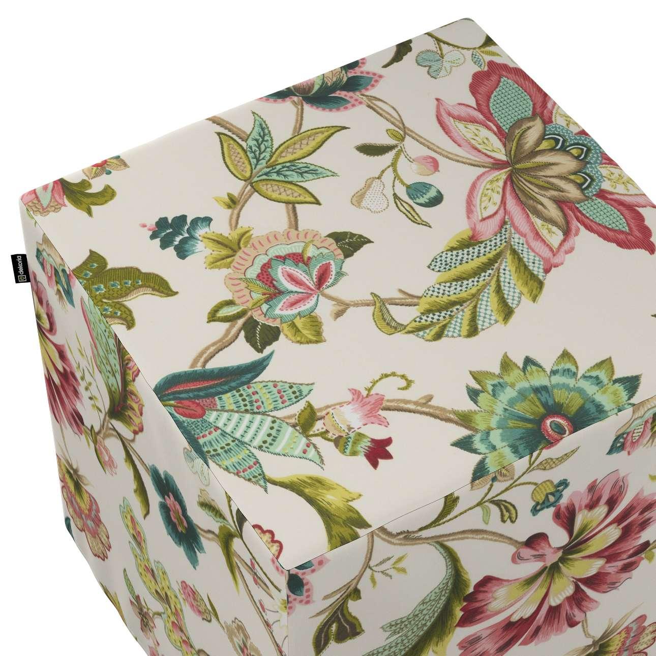Pufa kostka w kolekcji Londres, tkanina: 122-00