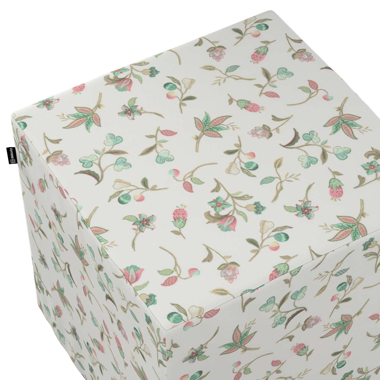 Taburetka tvrdá, kocka V kolekcii Londres, tkanina: 122-02