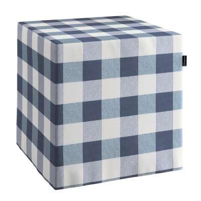 Sedák Cube - kostka pevná 40x40x40 v kolekci Quadro, látka: 136-03