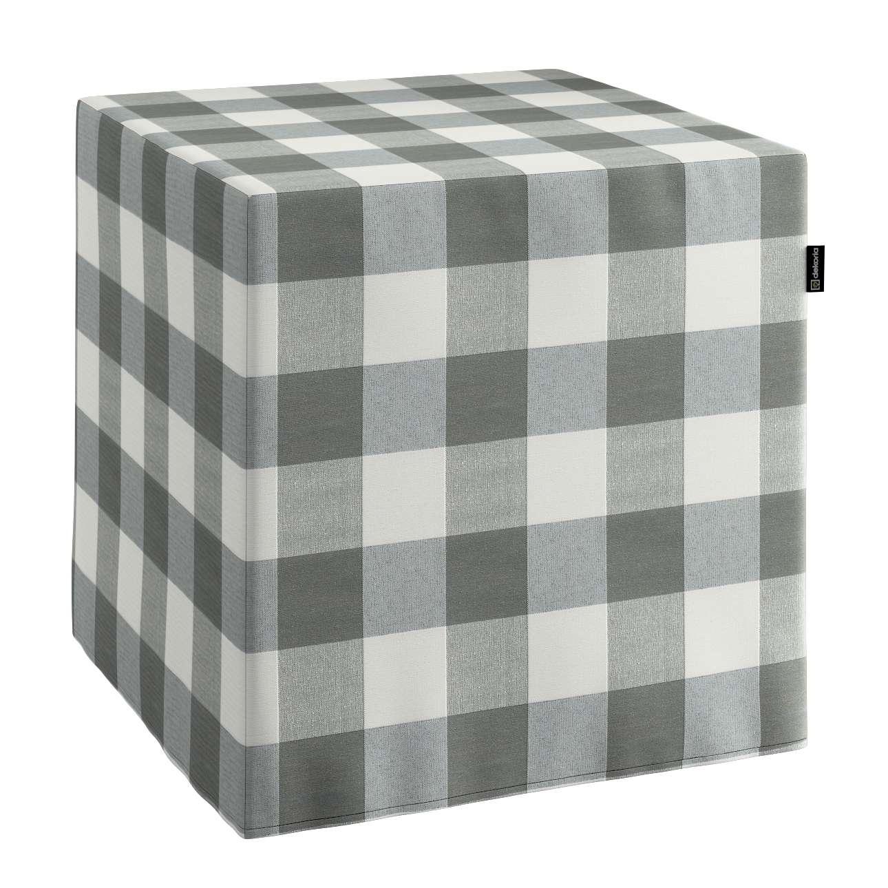 Taburetka tvrdá, kocka V kolekcii Quadro, tkanina: 136-13