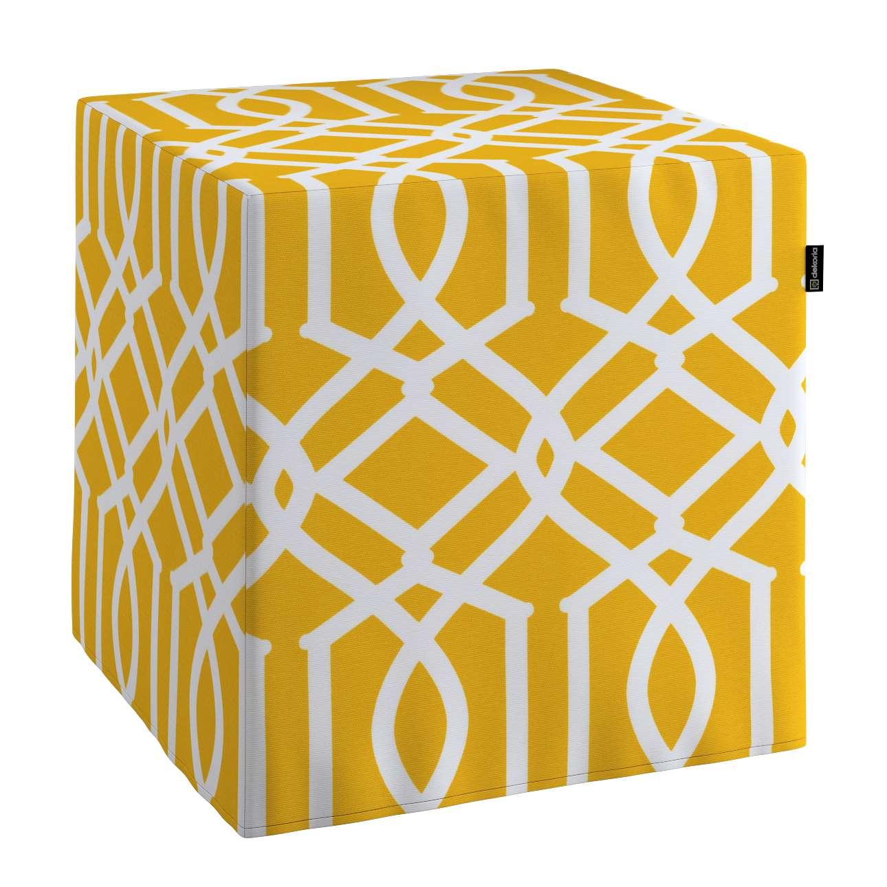 Sedák Cube - kostka pevná 40x40x40 v kolekci Comics, látka: 135-09