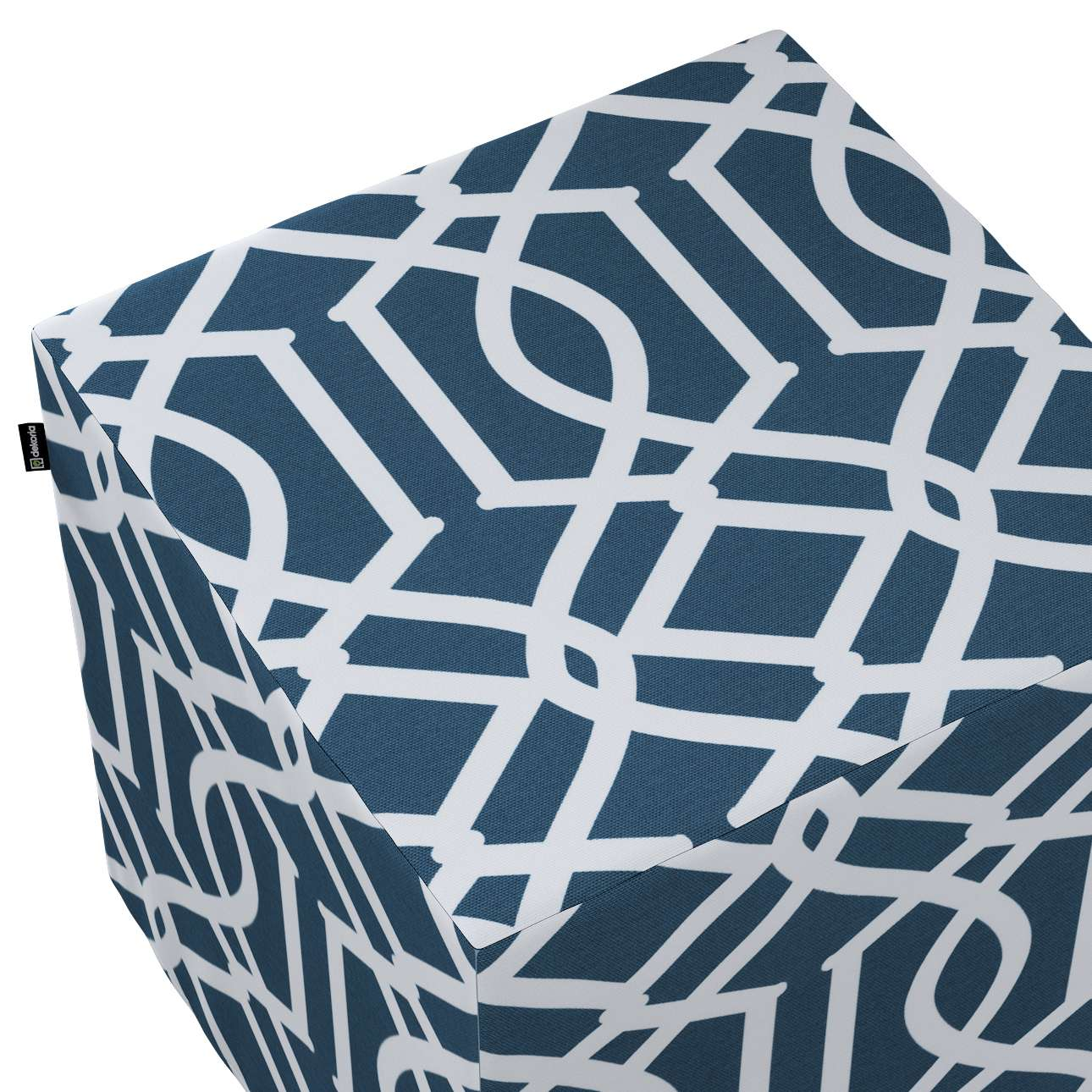 Sedák Cube - kostka pevná 40x40x40 v kolekci Comics, látka: 135-10