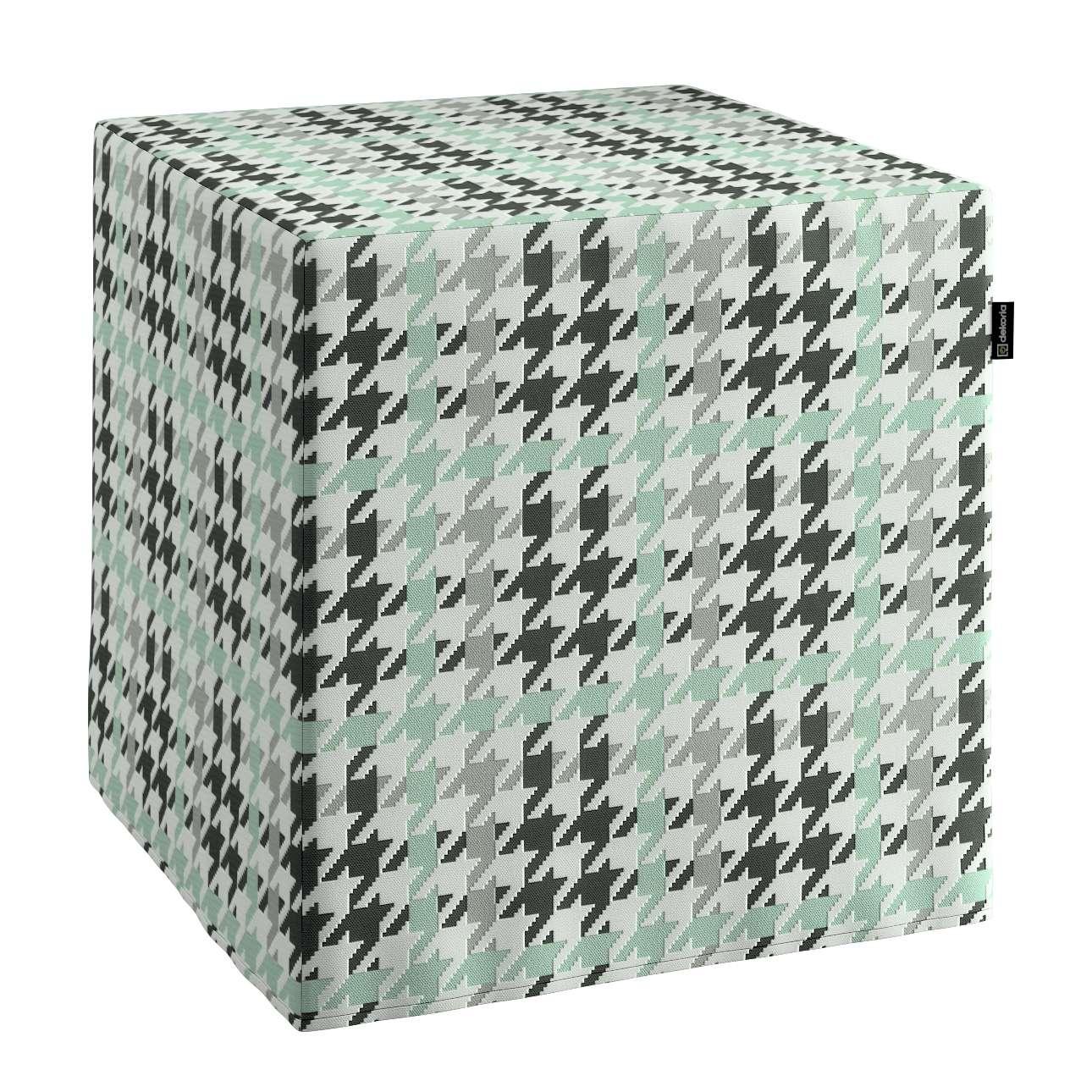 Taburetka tvrdá, kocka V kolekcii Výpredaj, tkanina: 137-77