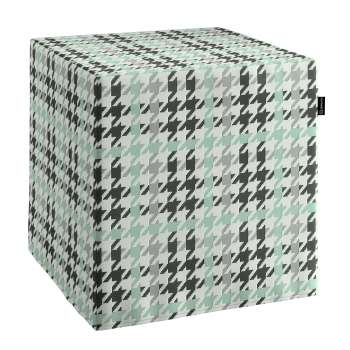 Taburetka tvrdá, kocka 40 × 40 × 40 cm V kolekcii Brooklyn, tkanina: 137-77