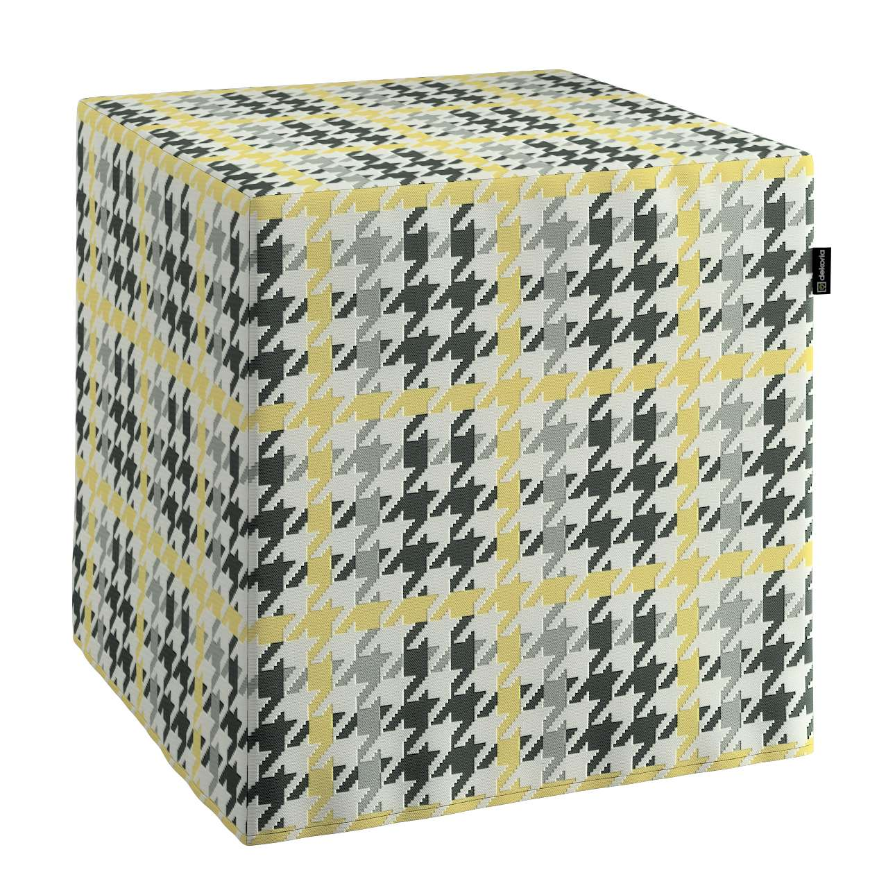 Sedák Cube - kostka pevná 40x40x40 v kolekci Brooklyn, látka: 137-79
