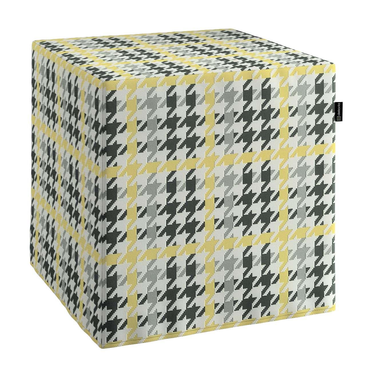 Sedák kostka - pevná 40 x 40 x 40 cm v kolekci Brooklyn, látka: 137-79