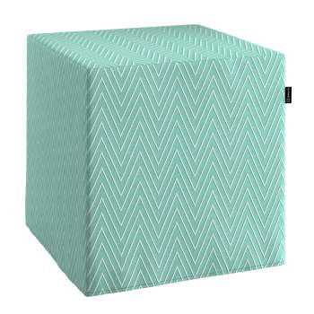 Taburetka tvrdá, kocka V kolekcii Brooklyn, tkanina: 137-90