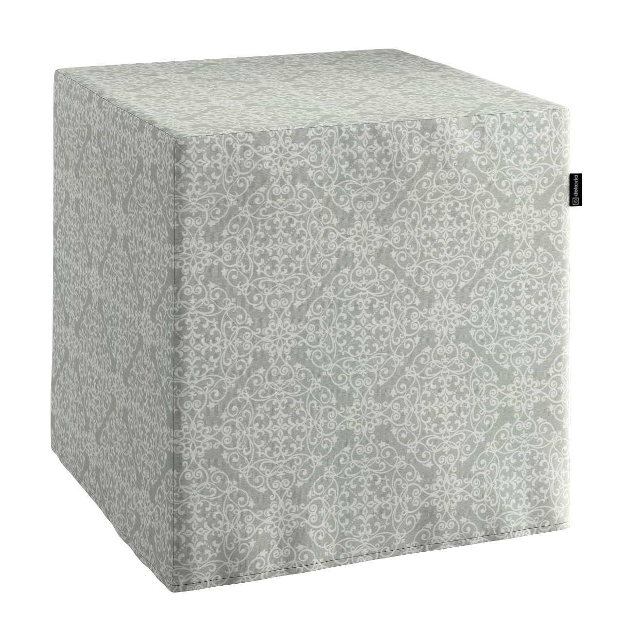 Sedák Cube - kostka pevná 40x40x40 v kolekci Flowers, látka: 140-38