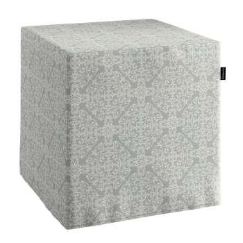 Harter Sitzwürfel 40 x 40 x 40 cm von der Kollektion Flowers, Stoff: 140-38