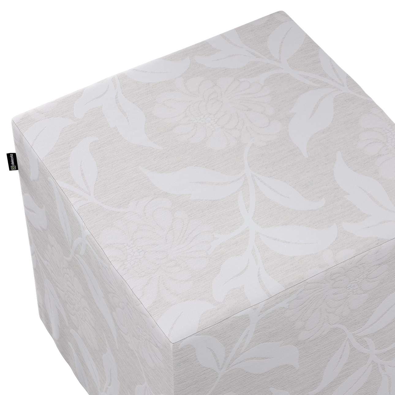 Sedák Cube - kostka pevná 40x40x40 v kolekci Venice, látka: 140-51