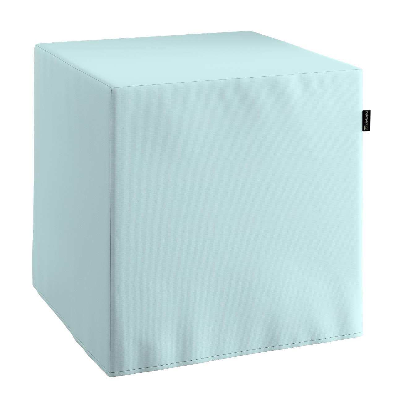 Pufa kostka twarda 40x40x40 cm w kolekcji Cotton Panama, tkanina: 702-10