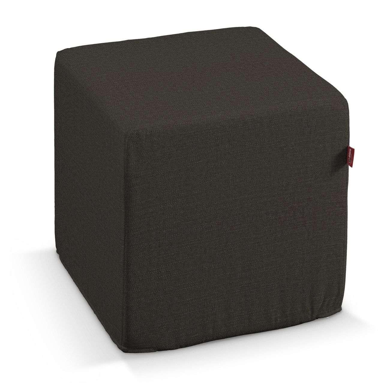 Sedák kostka - pevná 40x40x40 40 x 40 x 40 cm v kolekci Vintage, látka: 702-36