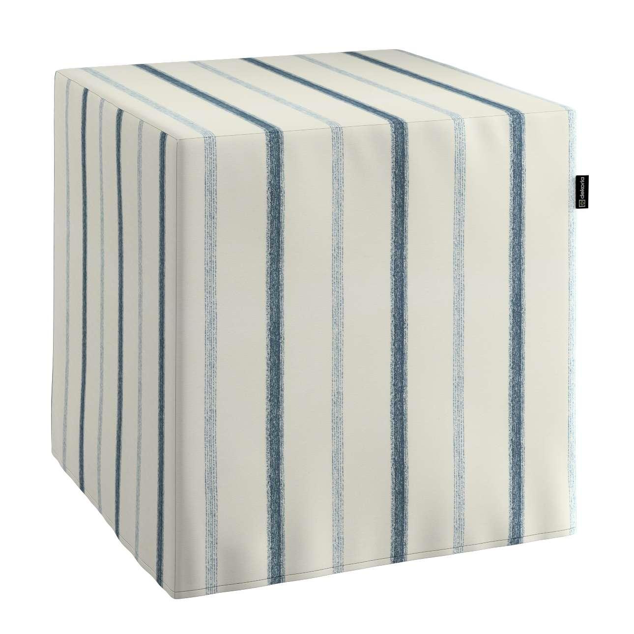 Sedák Cube - kostka pevná 40x40x40 v kolekci Avignon, látka: 129-66