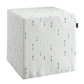Taburetka tvrdá, kocka V kolekcii Adventure, tkanina: 141-82