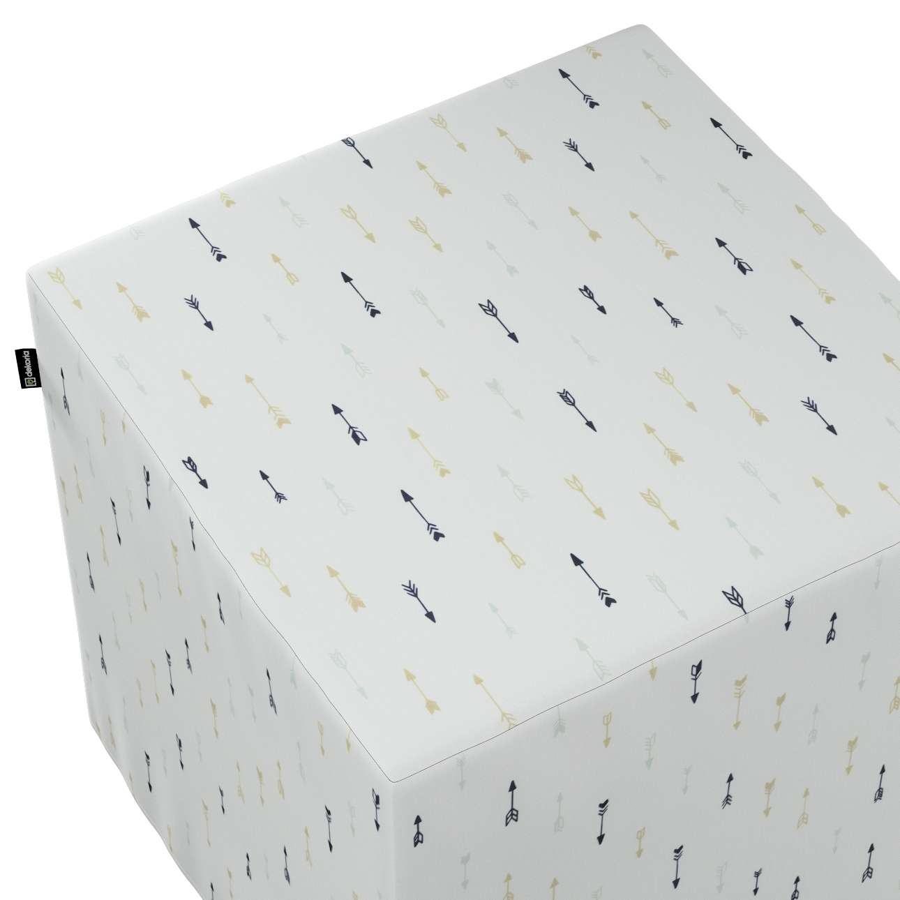 Pufa kostka w kolekcji Adventure, tkanina: 141-82