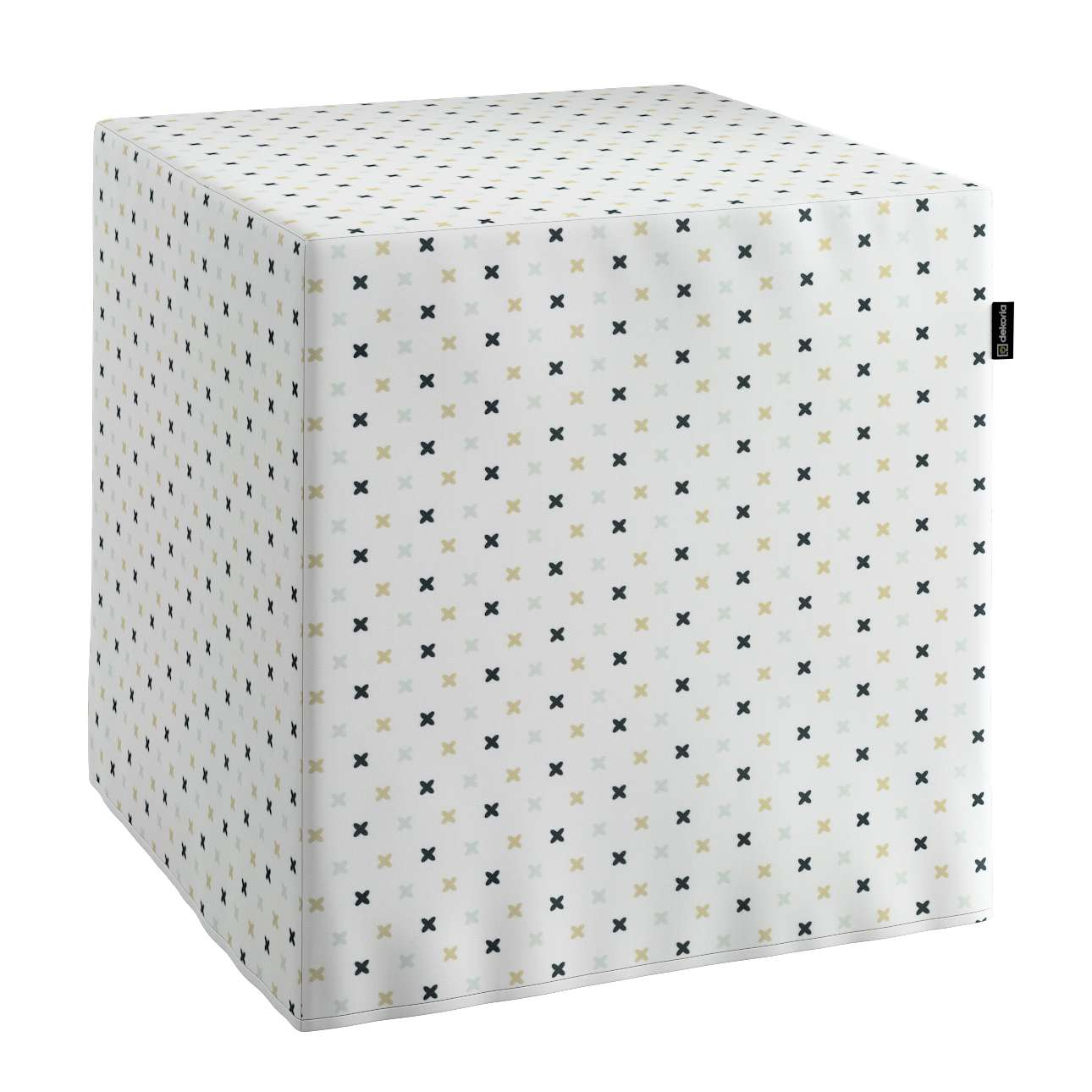 Sitzwürfel, weiß-schwarz-grau, 40 × 40 × 40 cm, Adventure   Wohnzimmer > Hocker & Poufs > Sitzwürfel   Dekoria