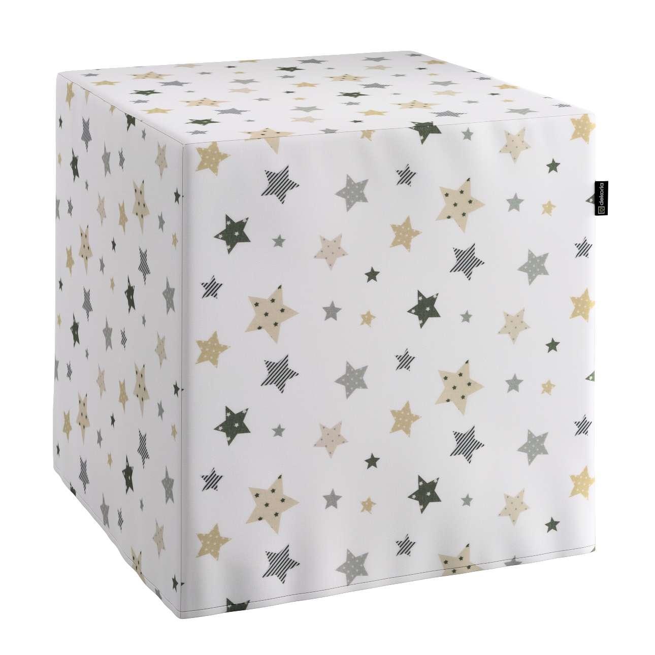 Sitzwürfel, creme-beige, 40 × 40 × 40 cm, Adventure   Wohnzimmer > Hocker & Poufs > Sitzwürfel   Dekoria