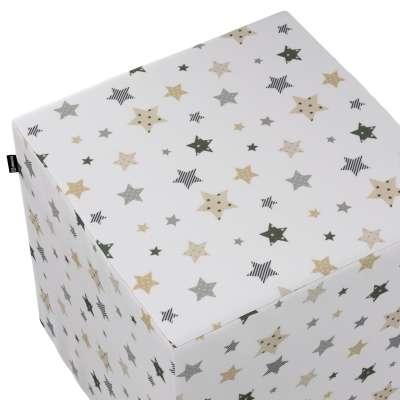 Taburetka tvrdá, kocka V kolekcii Adventure, tkanina: 141-86