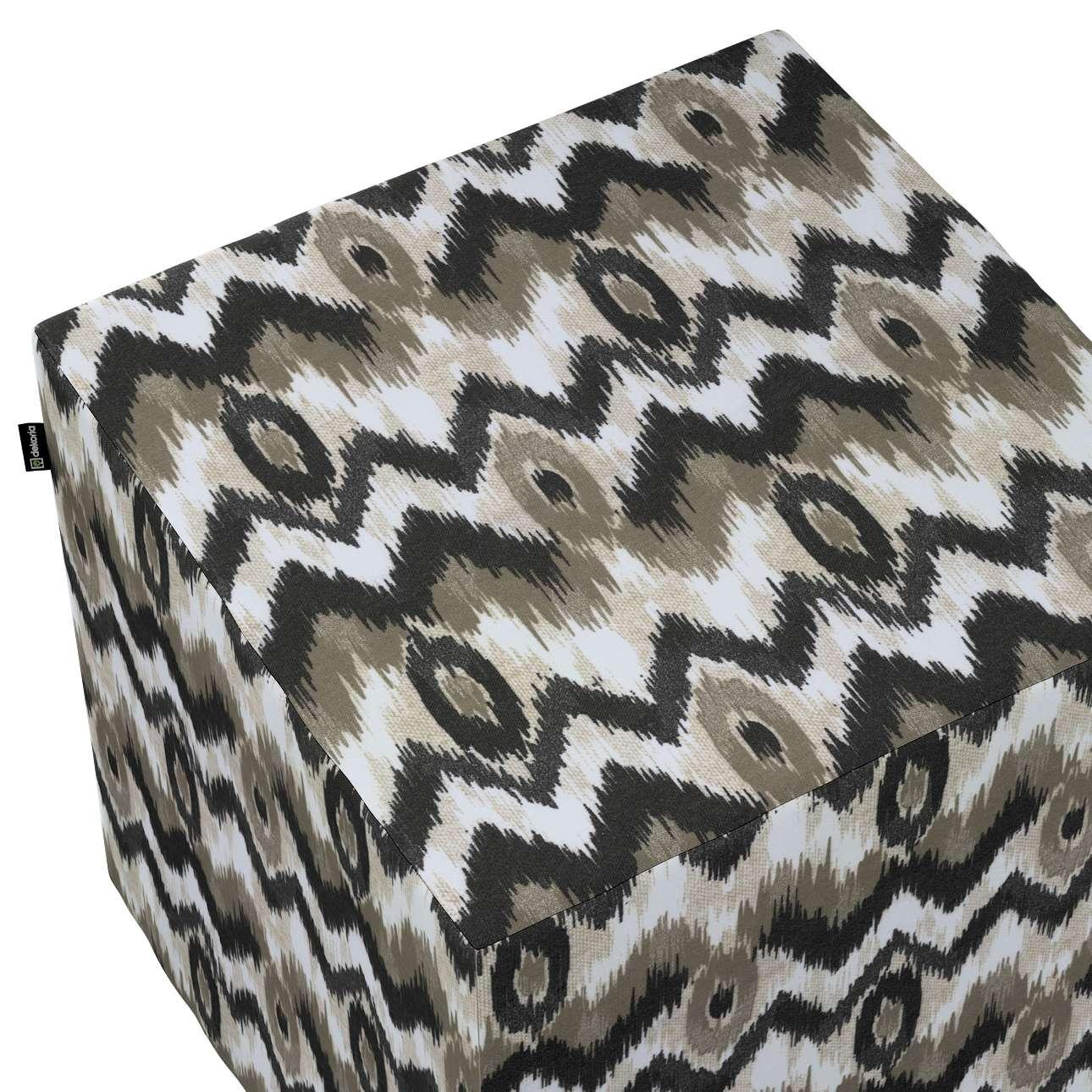 Taburetka tvrdá, kocka V kolekcii Modern, tkanina: 141-88