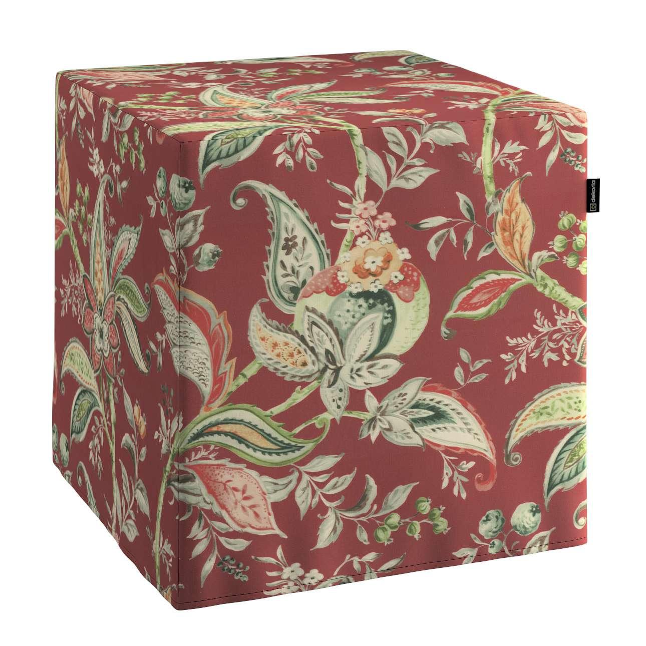 Pufa kostka w kolekcji Gardenia, tkanina: 142-12