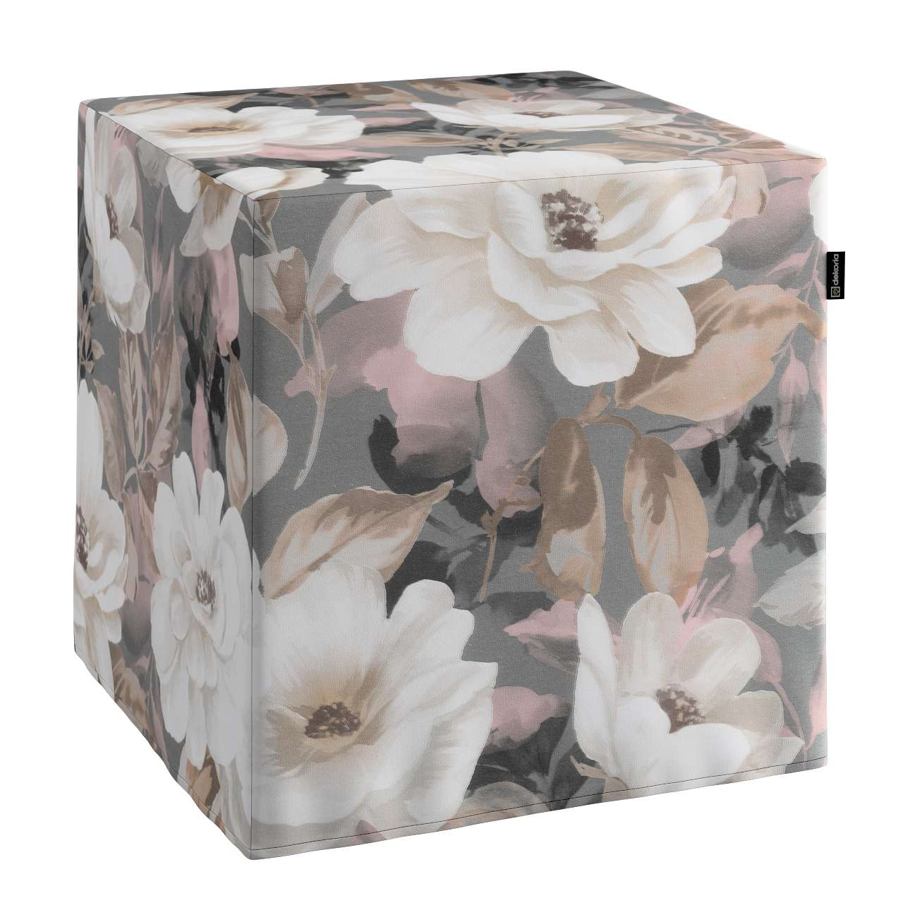 Taburetka tvrdá, kocka V kolekcii Gardenia, tkanina: 142-13