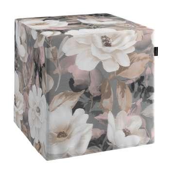 Sedák Cube - kostka pevná 40x40x40 v kolekci Gardenia, látka: 142-13