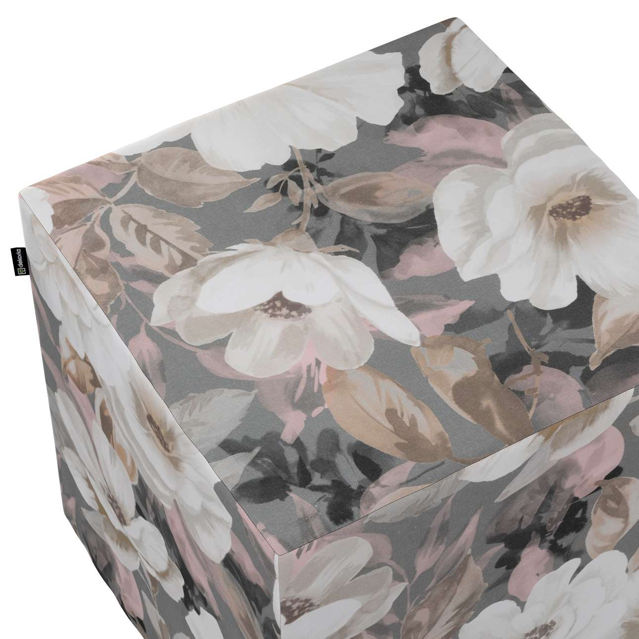 Pufa kostka w kolekcji Gardenia, tkanina: 142-13