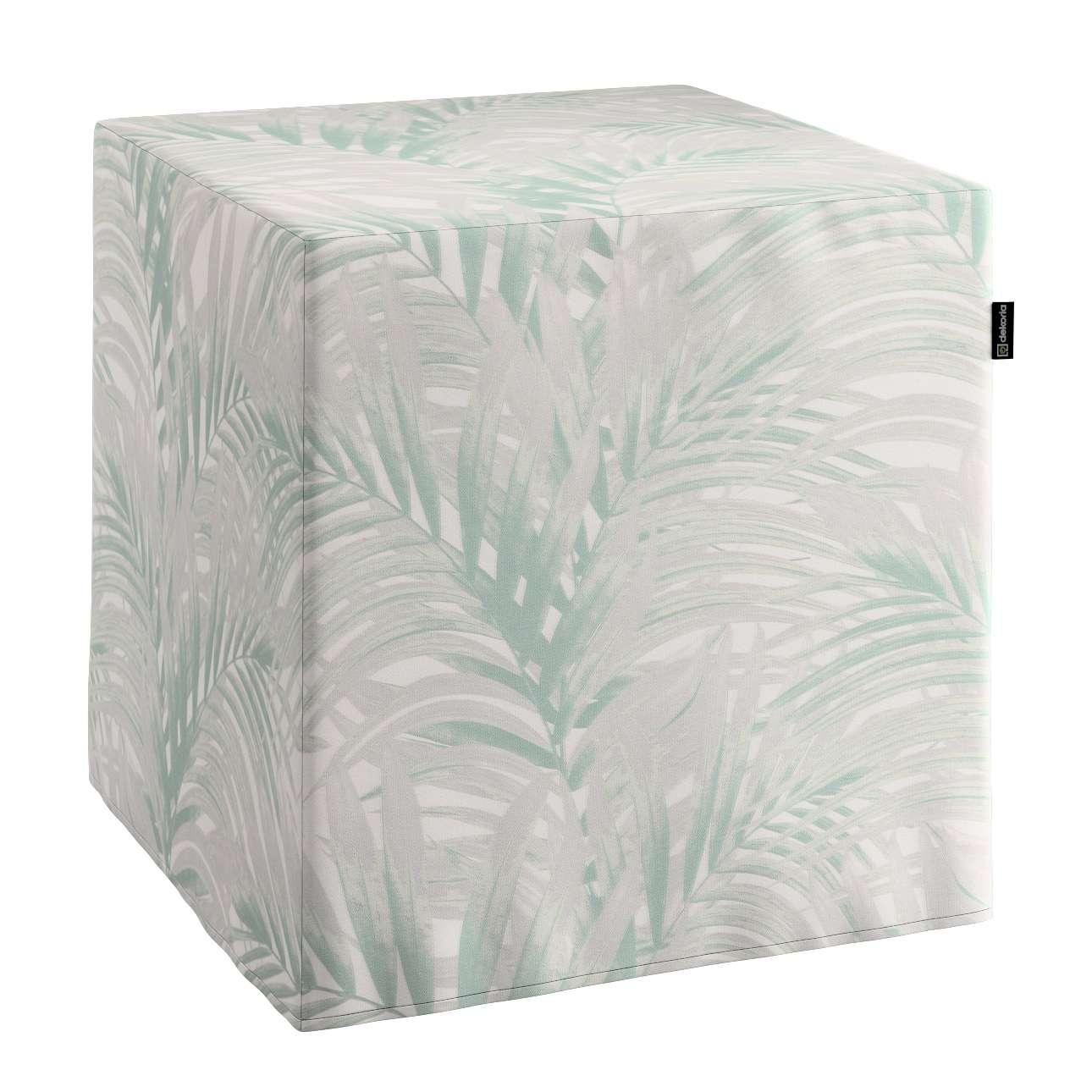 Pufa kostka w kolekcji Gardenia, tkanina: 142-15