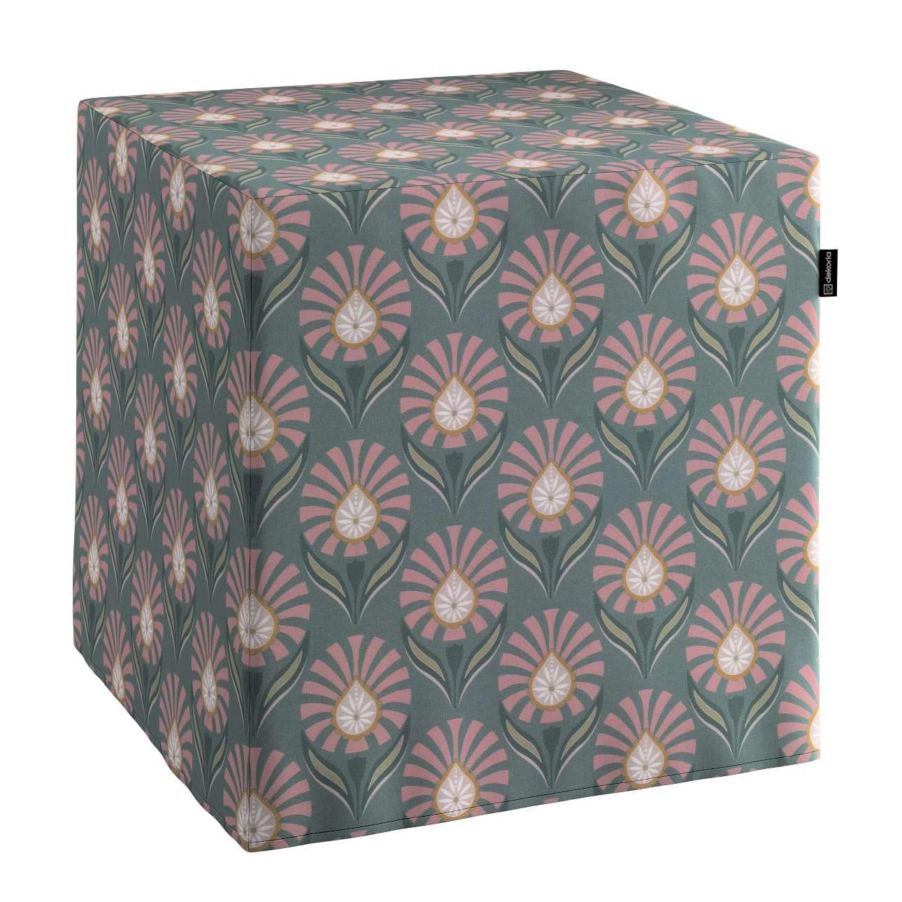 Sedák Cube - kostka pevná 40x40x40 v kolekci Gardenia, látka: 142-17