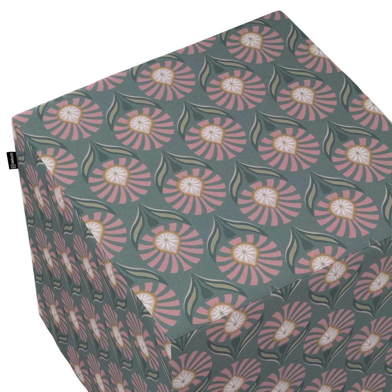 Sittepuff og Fotskammel fra kolleksjonen Gardenia, Stoffets bredde: 142-17