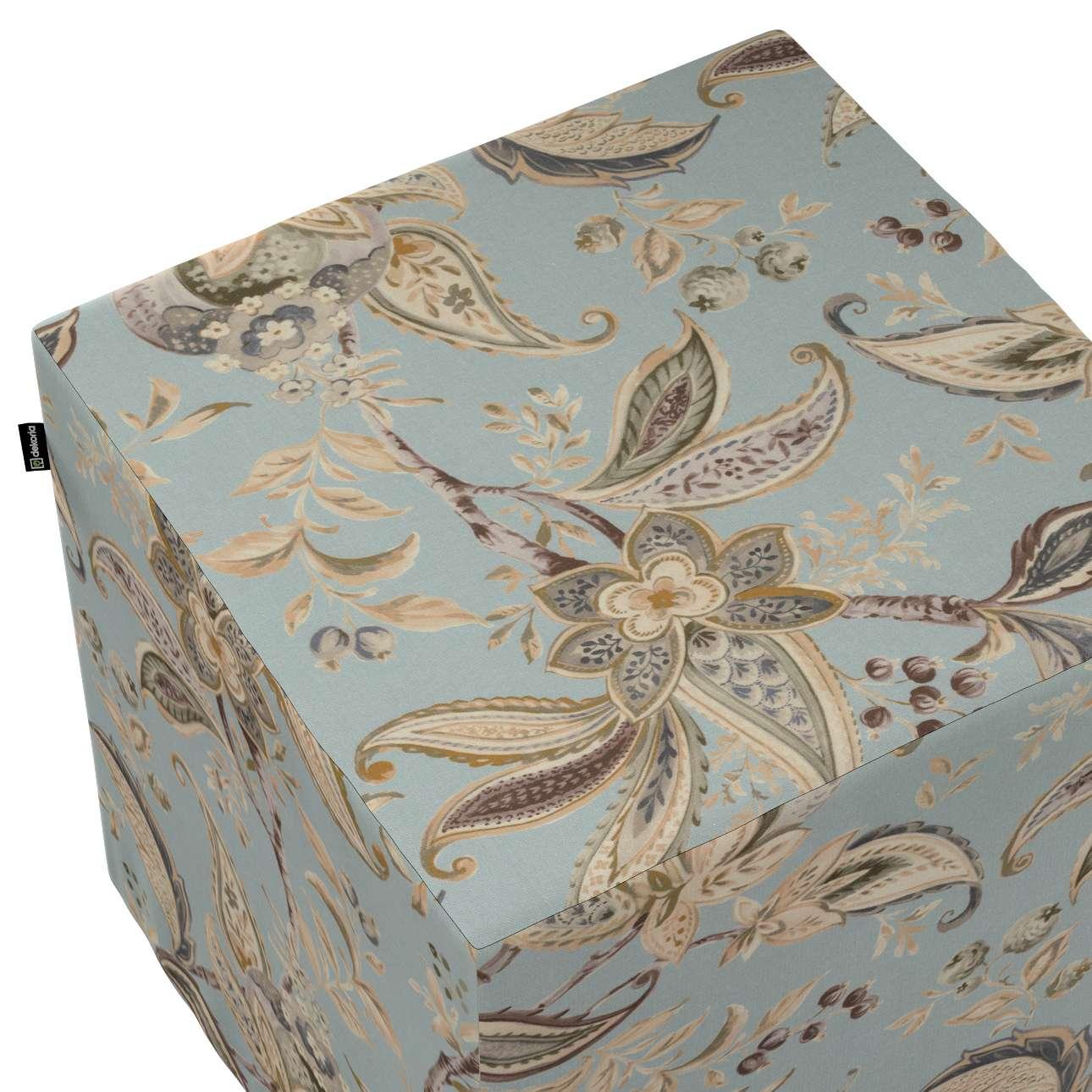 Pufa kostka w kolekcji Gardenia, tkanina: 142-18