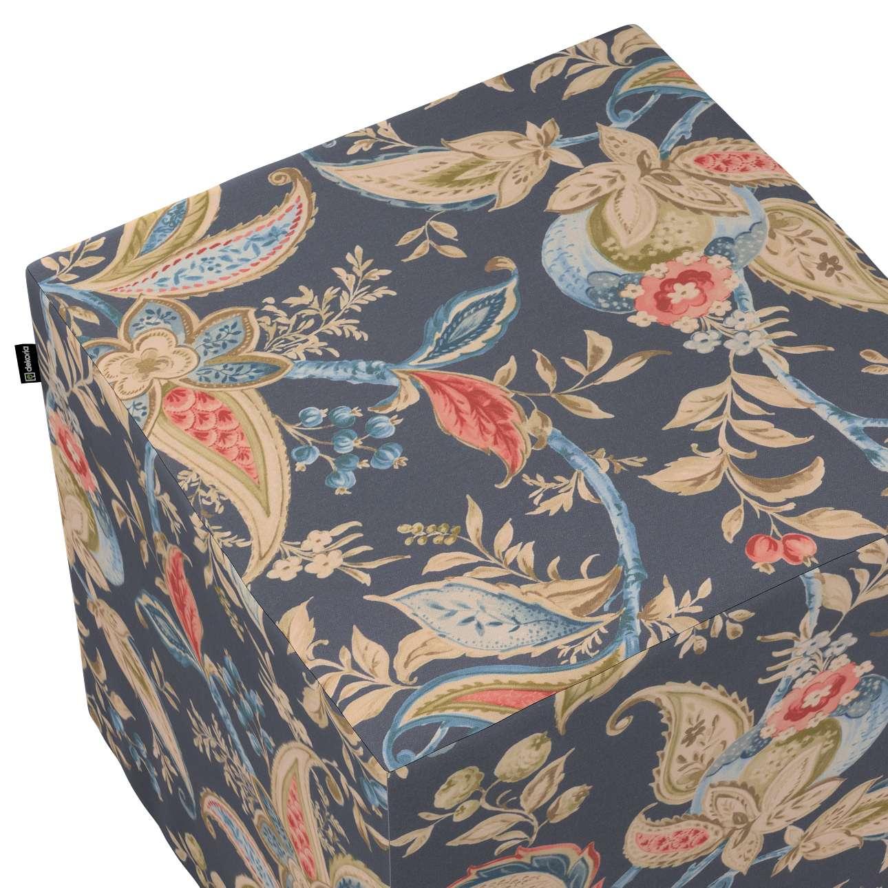 Taburetka tvrdá, kocka V kolekcii Gardenia, tkanina: 142-19