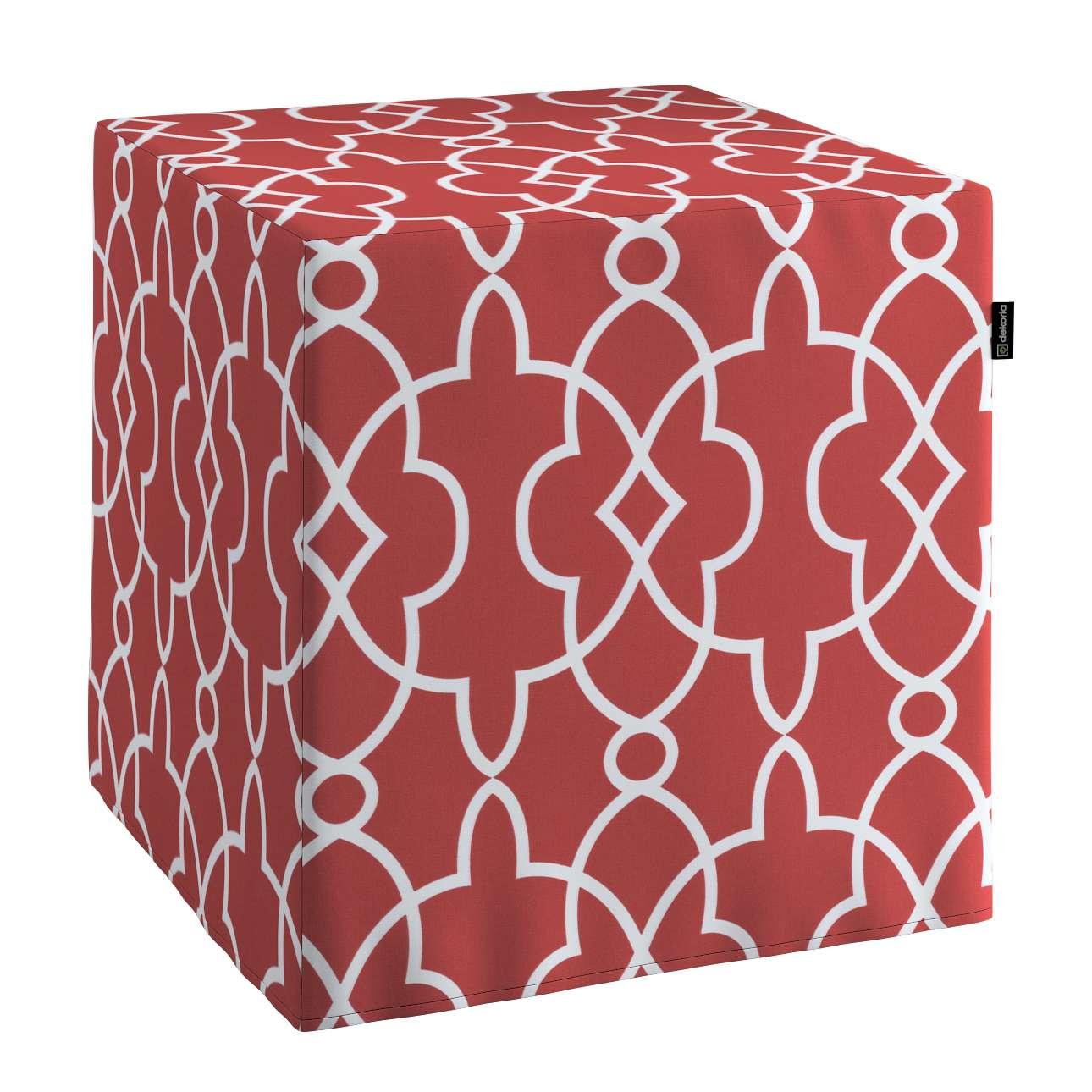 Sedák Cube - kostka pevná 40x40x40 v kolekci Gardenia, látka: 142-21