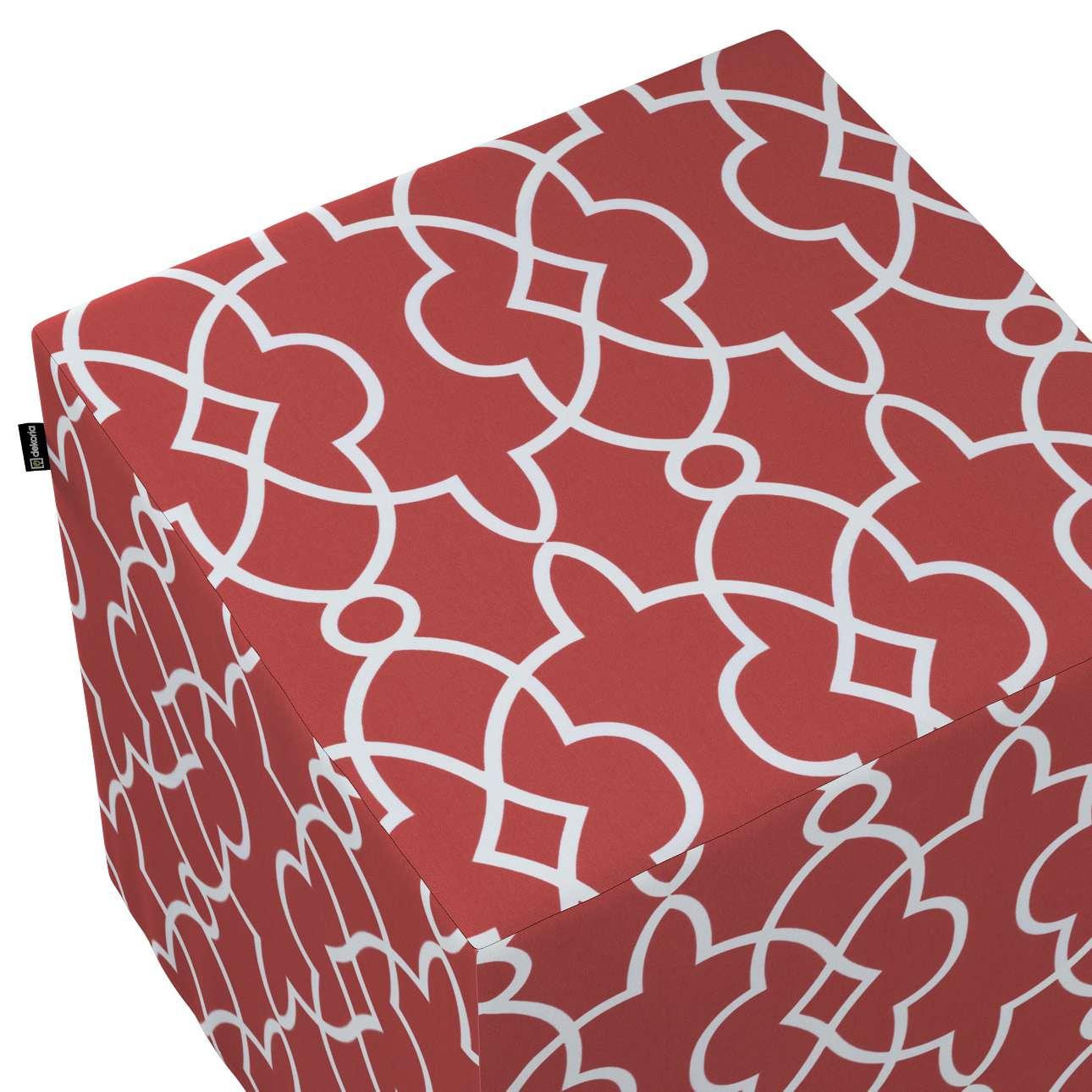 Pufa kostka w kolekcji Gardenia, tkanina: 142-21