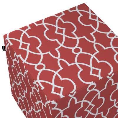 Taburetka tvrdá, kocka V kolekcii Gardenia, tkanina: 142-21