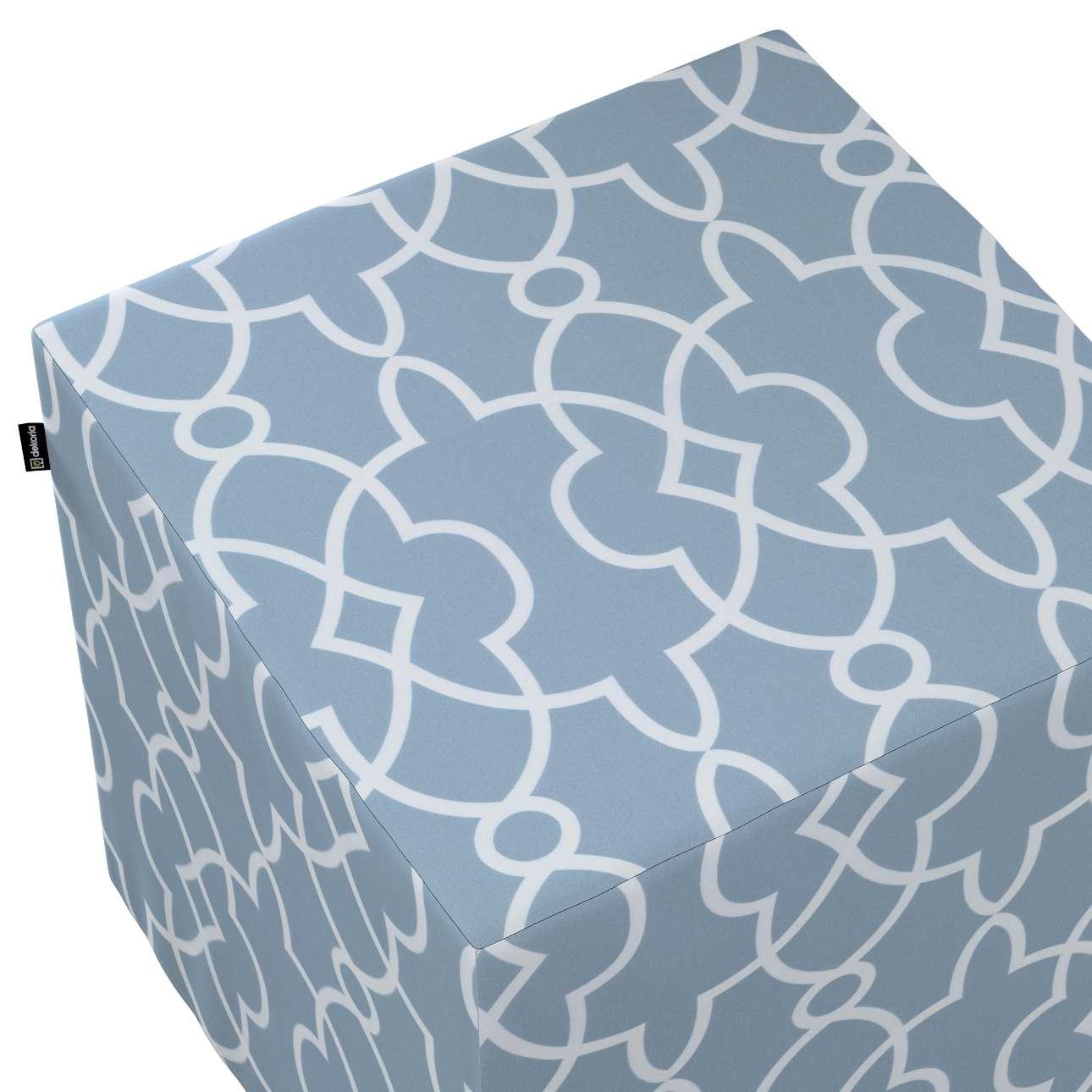Pufa kostka w kolekcji Gardenia, tkanina: 142-22