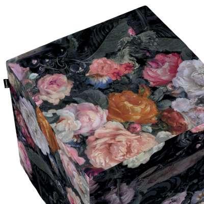 Taburetka tvrdá, kocka V kolekcii Gardenia, tkanina: 161-02